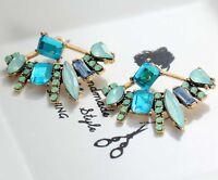1 Pair Elegant Multi Crystal Rhinestone  Ear Drop Dangle Stud long  Earrings 123