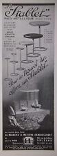 PUBLICITÉ PRESSE 1934 LE STABLET PIED MÉTALLIQUE PLATEAU BAKÉLITE - ADVERTISING