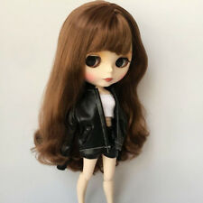 """12"""" Dolls Clothes Leather Jacket Shorts Vest for Blythe Takara Licca Outfit"""