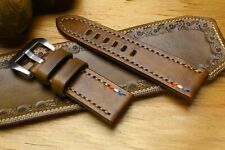 26 mm Authentique Style Vintage Genuine Leather Watch Strap Band Made in Italy