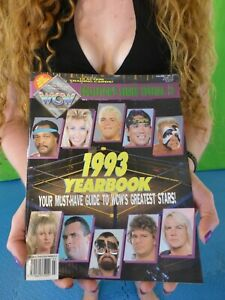 """1993 WCW Yearbook - Stone Cold Steve Austin Rookie RC """"Stunning"""", Mick Foley"""