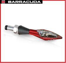 COPPIA FRECCE METALLO X-LED B-LUX BARRACUDA ROSSE OMOLOGATE LED MOTO UNIVERSALI