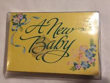 24 Vintage A New Baby Announcements American Greetings Birth Floral Rattle Bows