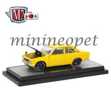 M2 MACHINES 40300 JPN01B AUTO JAPAN 1970 DATSUN 510 1/24 DIECAST CAR YELLOW