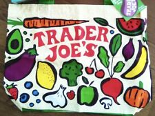 Trader Joe's Cotton Veggie & Fruit Shopping Bag With Handles  Reusable   New