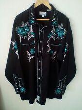 Camisa Vaquera Panhandle Slim Line bailando gran país Alto & Western 2XL XXL en muy buena condición