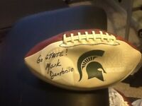 Mark Dantonio Signed Michigan State Football with Go State! Inscribed