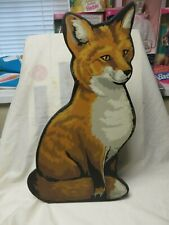 Vintage indoor Outdoor Thick Wood Painted Fox Figure,20 Inches,Figurine,Foxes