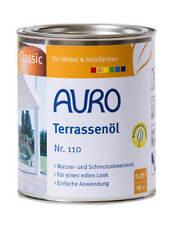 Terrassenöl 110 Teak Auro 0,75l -  Holzschutz Öl Hartöl Pflege Holzöl Möbelöl