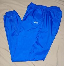 "ASICS Royal Blue Unlined Sport Athletic Basketball Wind Pants XL - 34"" Length"