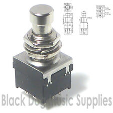 Guitar Effects Pedal Foot Switch DPDT Latching Action  ON-ON 9 pin 2 Pole