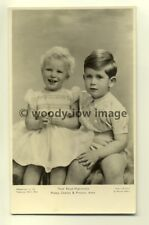 Q1803 - Princess Anne & Prince Charles - Royalty postcard