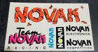 Vintage 90s Team Novak RC Car Cracked Look Sticker 4.5 x 2.5