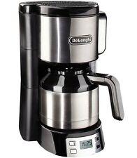 Delonghi ICM15750 Therm Kaffeemaschine Metall Kanne Tropf stopp Timer 1000W Blac