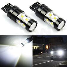 JDM ASTAR 2Pcs 50W 7443 7440 LED White Extreme Bright Tail Brake Stop Light Bulb
