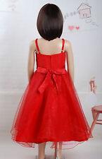 Fiesta Niña de las Flores Vestido Rojo Rosa Blanco Lila 18 Meses a 5 Años