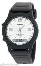 Casio AW49HE-7A Mens Classic Digital Analog Casual Watch 50M Dual Time Alarm