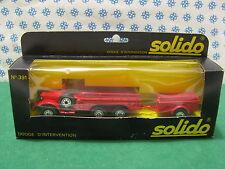 Vintage - DODGE 6x6 T223 WC63 avec remorque d'invertion - Solido 391 ( 213-242)