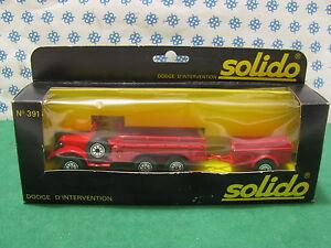 Vintage - Dodge 6x6 T223 WC63 Avec Remorque D'Invertion - Solido 391 (213-242)