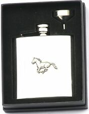 Running Horse 6 Oz Hip Flask Personalised Hunting Gift Boxed Engraving