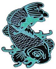 bf60 Koi Karpfen Tattoo Asien Fische Aufnäher Bügelbild Applikation 7,5 x 8,7 cm