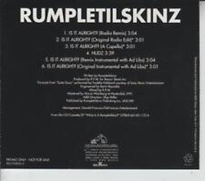 Rumpletilskinz: Is It Alright? PROMO MUSIC AUDIO CD Remixes Edit A Capella Hudz