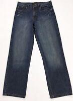 Lee jeans usati W32 tg 46 uomo dritti blu straight fit usato gamba dritta T1815