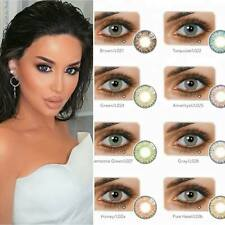 Color Contacts Lenses NEW Yearly For Dark eyes cases Lens Case