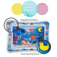 Sensory Water Mat Baby Toddler Squishy Play Crawl Tummy Liquid Time Inflata U2Y4