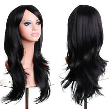 Halloween Multi-Colors Full Wig Long Curly Cosplay Party Fancy Dress For Women