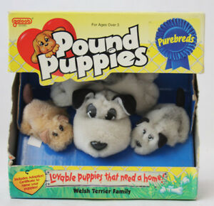 RARE VINTAGE 1996 POUND PUPPIES PUREBREDS WELSH TERRIER FAMILY GALOOB NEW SEALED