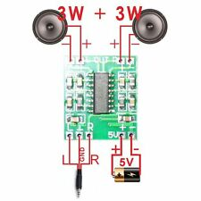 2PCS USB Audio Receiver 2.5-5V PAM8403 Class D Digital Module Amplifier Board