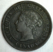 1888 Copper Canadian Large Cent One Cent Coin VF #17