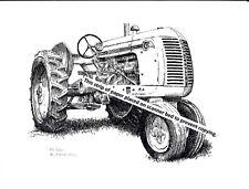 Cockshutt 30 Farm Tractor ~ Pen & Ink Print