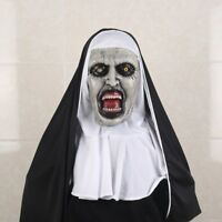 Nun Full Head Cosplay Horror Movie Mask Valak Halloween Conjuring Scary Costume