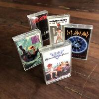 80's Heavy Metal Cassette Tape Lot - Def Leppard, Skid Row, Warrant, TNT, Danger