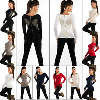 New Women Clubbing Pullover Ladies Jumper Wing Top Size 8 10 12 Blouse Cardigan