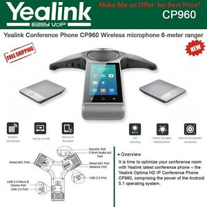 Yealink CP960 Conference Phone with 2 x CPW90 Wireless Mics & 1 x YLPoE30 BUNDLE