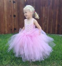 Pink Baby Tutu Dress with Crochet Top. Size 3T-4T.