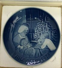 Pair of Bing and Grondahl Christmas Plates 1976 & 1978 Mint Condition.