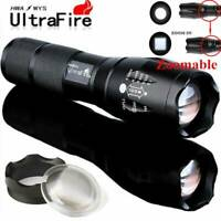 Tactical Light 50000LM 5Modes T6 LED Zoomable Hiking Flashlight Brigh Torch Lamp