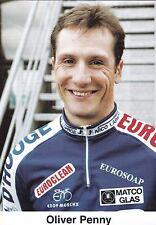 CYCLISME carte cycliste OLIVER PENNY équipe IPSO eurosoap euroclean