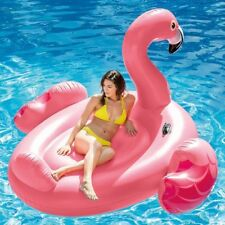 Intex Mega Giant Pink Inflatable Flamingo Pool Float Island Ride-On Lounger Lilo