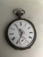 19th C. Swiss Avance  Retard 800 Sliver Case Cylinder Movement Pocket Watch
