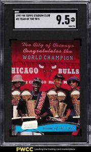 1997 Stadium Club Team Of The 90's w/ Michael Jordan #5 SGC 9.5 MINT+