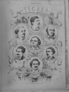 1863 Photographer Nadar Carja Figaro Bourdin Jouvin Critical Theatre Costco