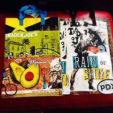 So CAL  & Portland Trader Joe's BAGS reusable Shopping grocery Tote ECO bag NWT
