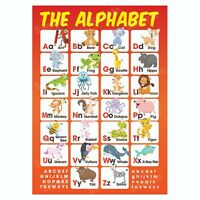 ABC Alphabet Educational Poster, Pre-School First Learning, Homeschooling Kids