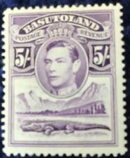 Basutoland George VI  5/- Violet Definitive Mounted Mint SG27.