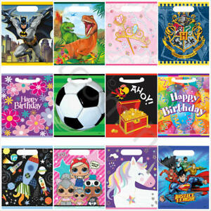 Kids Party Bags Childrens Birthday Party Favours Plastic Loot Treat Goody Bags